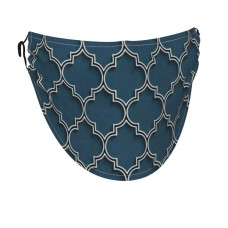 3D Islamic Morocco Style Face Masks Washable, Face Covering with Breathable Comfort Loops, Size Fit Small Face, Reusable Polyester, Nose Curved Cover Design to Breath Unisex. 14cm x 24cm