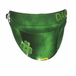 Happy St. Patrick's Day Green Hat And Clover Leaf Spring (2) Face Masks Washable, Face Covering with Breathable Comfort Loops, Size Fit Small Face, Reusable Polyester, Nose Curved Cover Design to Breath Unisex. 14cm x 24cm