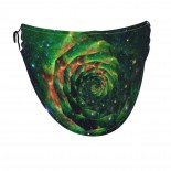 Psychedelic Starry Sky Face Masks Washable, Face Covering with Breathable Comfort Loops, Size Fit Small Face, Reusable Polyester, Nose Curved Cover Design to Breath Unisex. 14cm x 24cm
