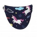 Unicorn Cloud Star Face Masks Washable, Face Covering with Breathable Comfort Loops, Size Fit Small Face, Reusable Polyester, Nose Curved Cover Design to Breath Unisex. 14cm x 24cm